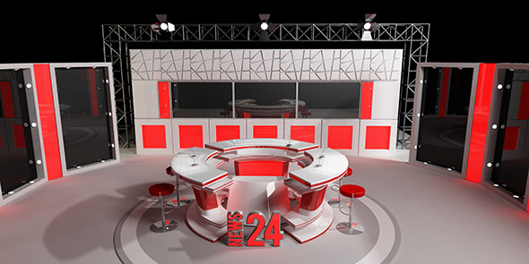 3DOcean tv news studio 20634222