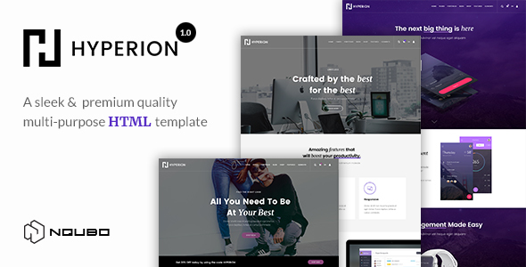 ThemeForest Hyperion Premium Multipurpose HTML Template 20510976