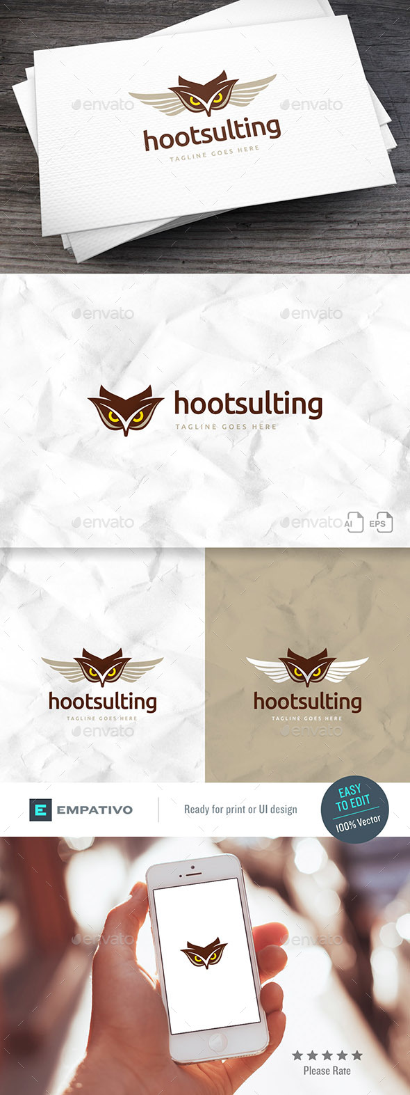 Hootsulting Logo Template - Animals Logo Templates