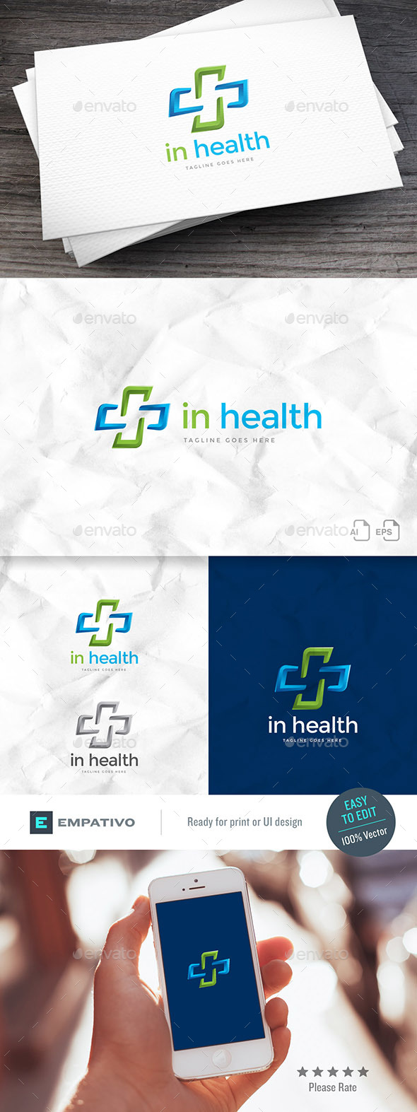 Inhealth Logo Template - Symbols Logo Templates