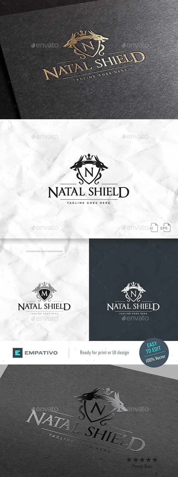 Natal Shield Logo Template