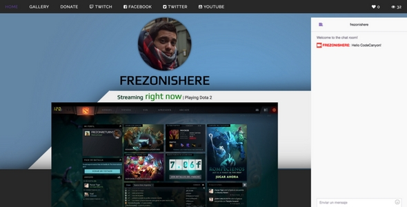 Twitch.tv - stream web streaming + gallery - CodeCanyon Item for Sale