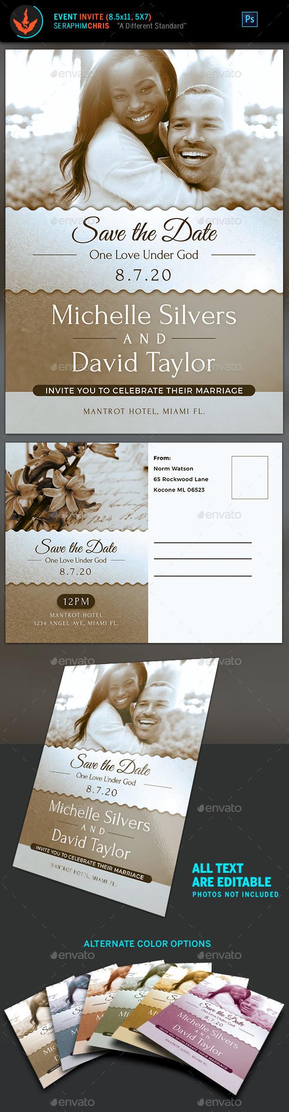 GraphicRiver Vintage Wedding Invite Template 20634438