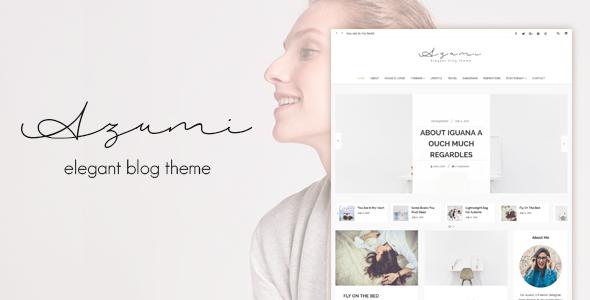 Azumi - Elegant Blog Theme