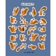 Squirrel Sticker Set for Your Design - GraphicRiver Item for Sale