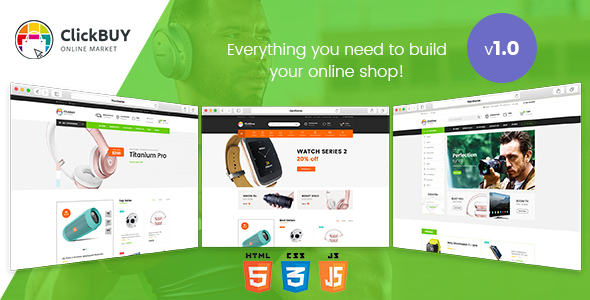 Image of ClickBuy - Multi Store Responsive HTML Template