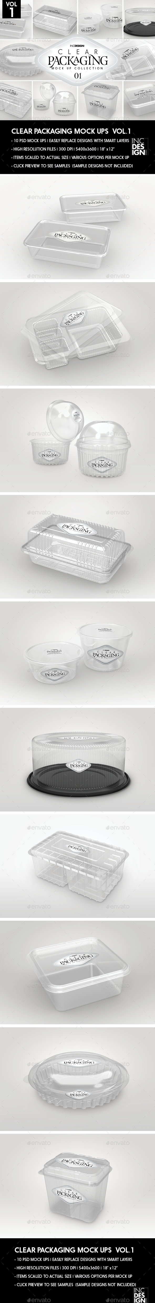 Clear Packaging MockUps 01 - Packaging Product Mock-Ups
