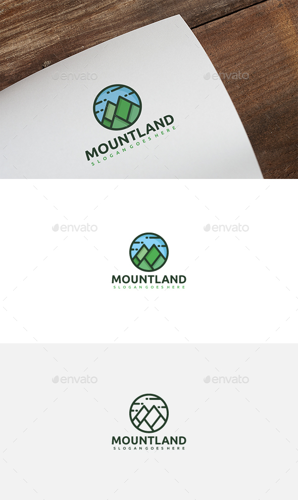 Mountains Land Logo - Nature Logo Templates