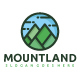 Mountains Land Logo