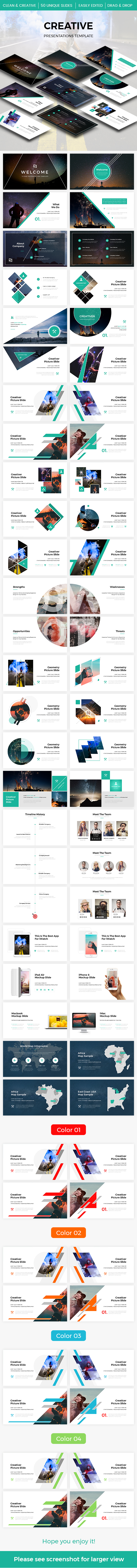 Creative 2.0 Google Slides Template 2017 - Google Slides Presentation Templates