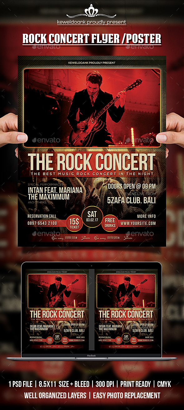GraphicRiver Rock Concert Flyer Poster 20634709