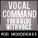 Wp Speech - Vocal Command for WordPress