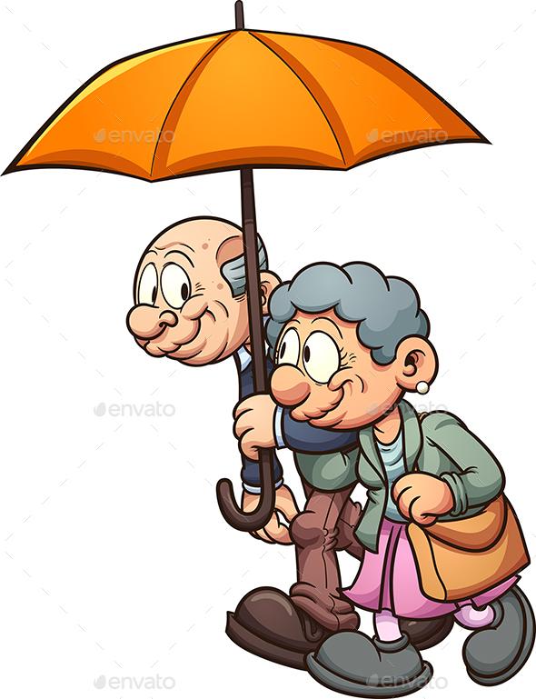Elderly Couple - People Characters