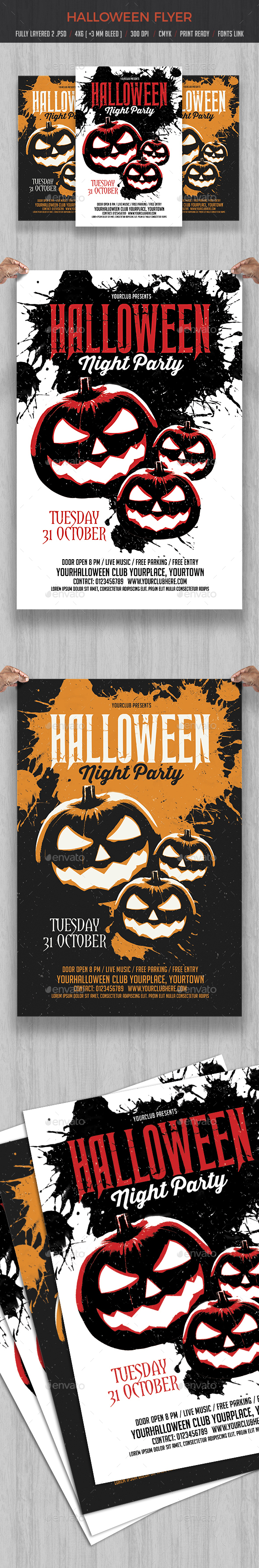 GraphicRiver Halloween Party Flyer Template 20634855