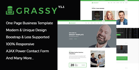 Grassy- One Page Responsive Multipurpose Business HTML5 Template