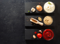 tomato sauce, mayonnaise and mustard in bowl - PhotoDune Item for Sale