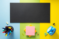 school supplies at abstract colorful background - PhotoDune Item for Sale