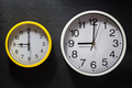 wall clock at black background - PhotoDune Item for Sale