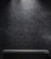 wooden shelf at black background - PhotoDune Item for Sale