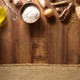 bakery ingredients on wooden background - PhotoDune Item for Sale