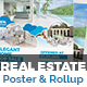 Real Estate Poster + Roll-Up Template