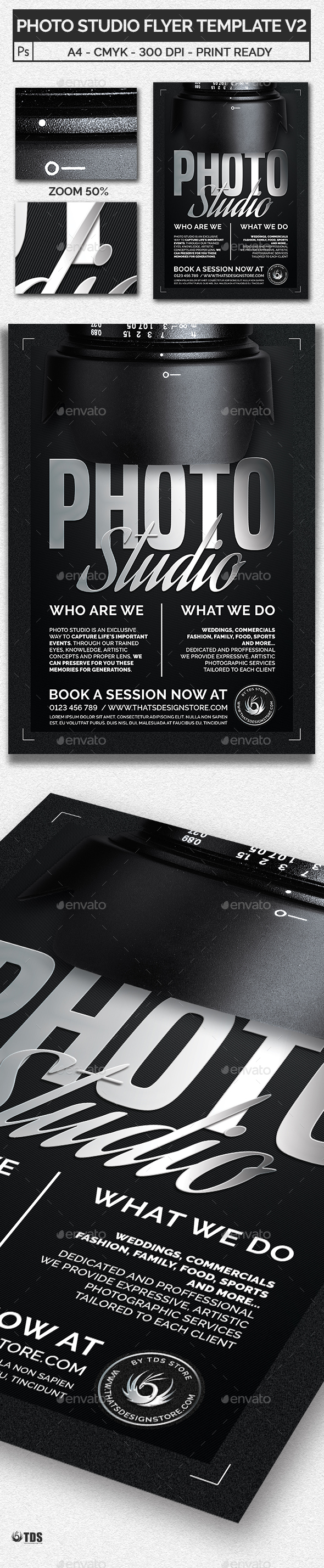 GraphicRiver Photo Studio Flyer Template V2 20635406