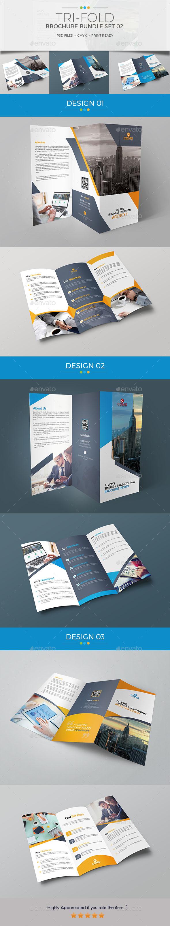 Trifold Brochure Bundle Set 02 - Corporate Brochures