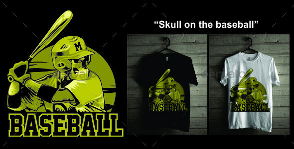 GraphicRiver Skull on the baseball 20635474