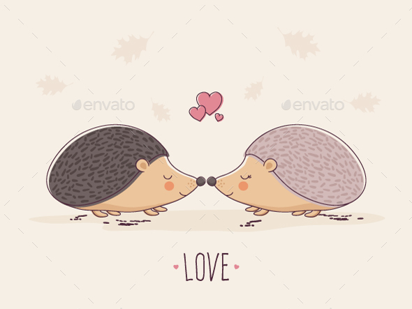 GraphicRiver Hedgehogs in Love 20635499