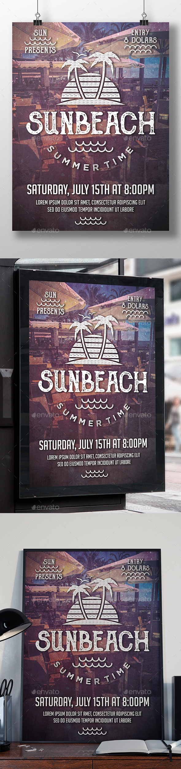 Sun Beach Fest Flyer Template - Clubs & Parties Events
