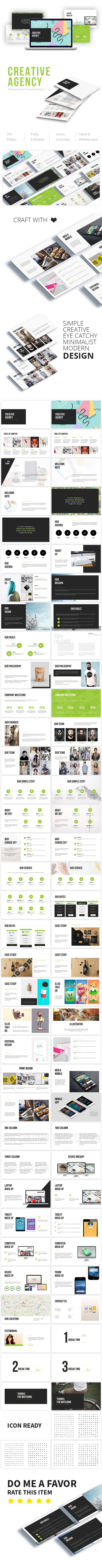 Creative Agency Powerpoint Presentation - Creative PowerPoint Templates