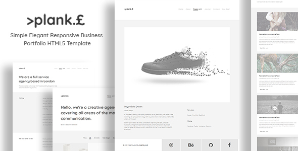 Plank - Simple Elegant Responsive Business Portfolio HTML5 Template - Business Corporate