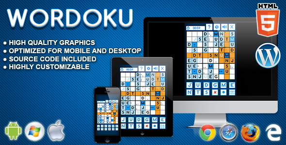 Wordoku - HTML5 Logic Game - CodeCanyon Item for Sale