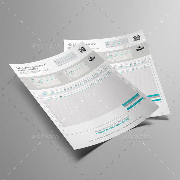Sales Order Business US Letter Template by Keboto | GraphicRiver