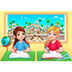 Young Students Boy and Girl in the Classroom - GraphicRiver Item for Sale