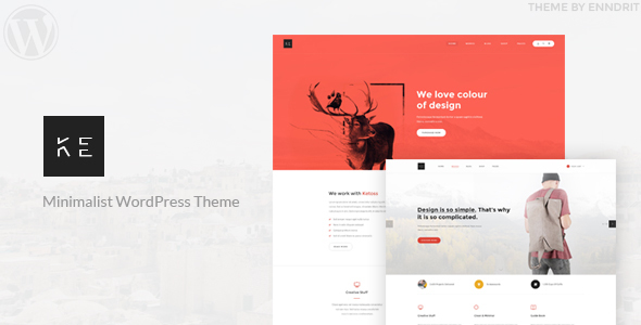 Ketoss - Minimalist Portfolio and Business WordPress Theme