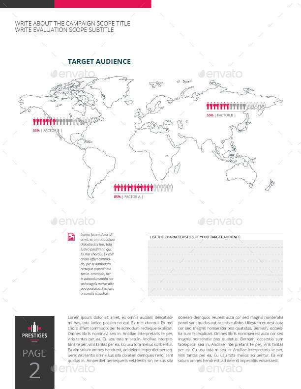 Marketing Campaign Evaluation US Letter Template by Keboto ...