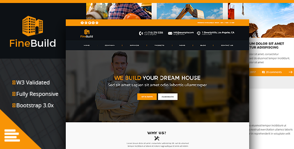Fine Build - Building & Construction HTML Template - Business Corporate