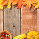 Thanksgiving background with maple leaves and pumpkins - PhotoDune Item for Sale