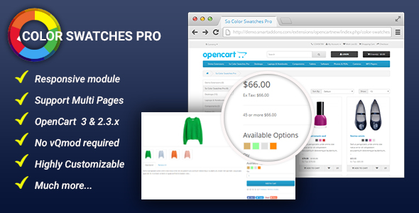Color Swatches Pro Module for OpenCart 3 & 2.3.x - CodeCanyon Item for Sale