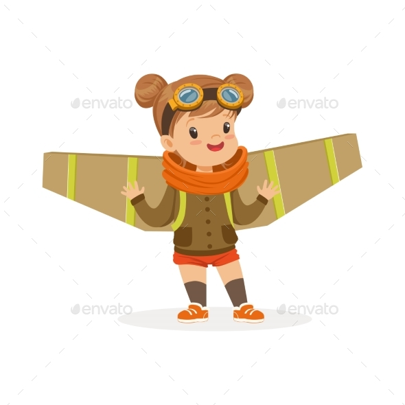 Girl in Pilot Costume - People Characters