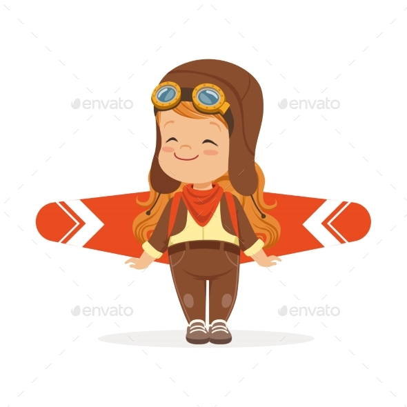 Boy in Pilot Costume Playing - People Characters