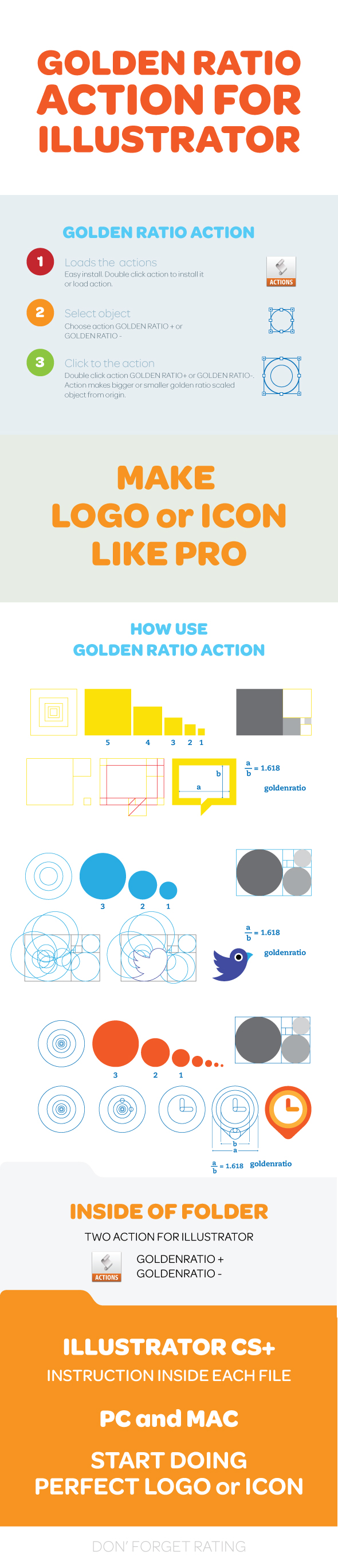 Golden Ratio Illustrator Action - Actions Illustrator