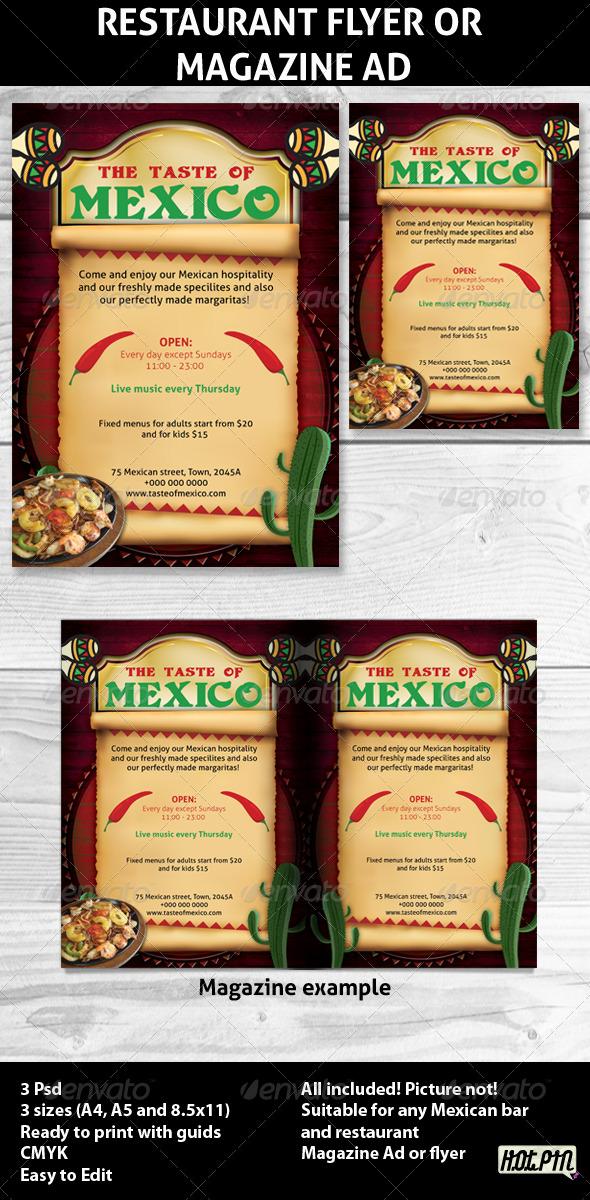 Restaurant Magazine Ads or flyers 4 - Restaurant Flyers
