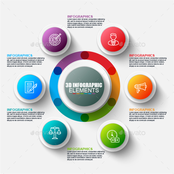 Business 3d circle infographics - Infographics