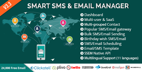 Smart SMS & Email Manager (SSEM) - CodeCanyon Item for Sale