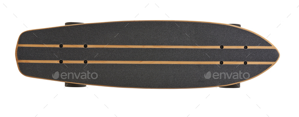 Black and wooden skate board isolated - Stock Photo - Images