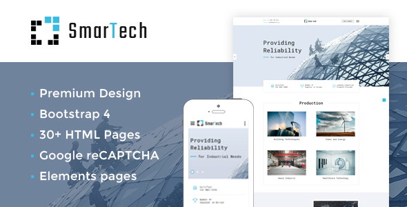 SmarTech — Bootstrap Multipage Construction Company Website Template
