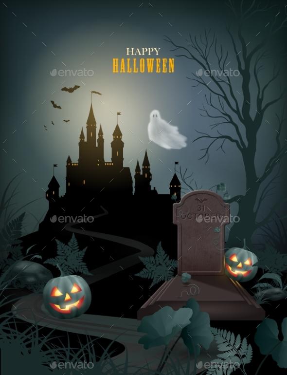 GraphicRiver Halloween Party Invitation 20644185