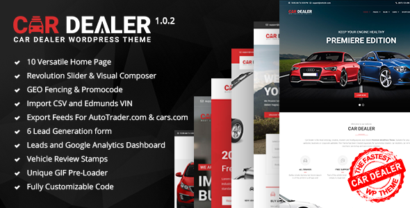 ThemeForest Car Dealer The Best Car Dealer Automotive Responsive WordPress Theme 20213334